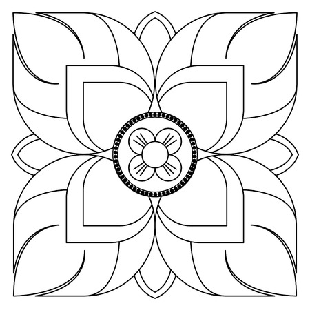 Vector illustration of Thai art thai flower Illustration