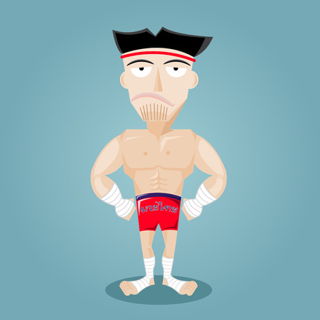Vector illustration of Thai Boxing Vector