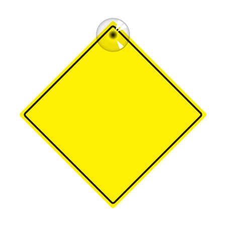 Vector Illustration of yellow sign