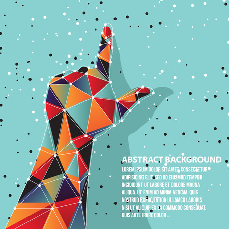 Vector of hand abstract background