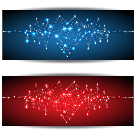 Abstract heartbeat Vector