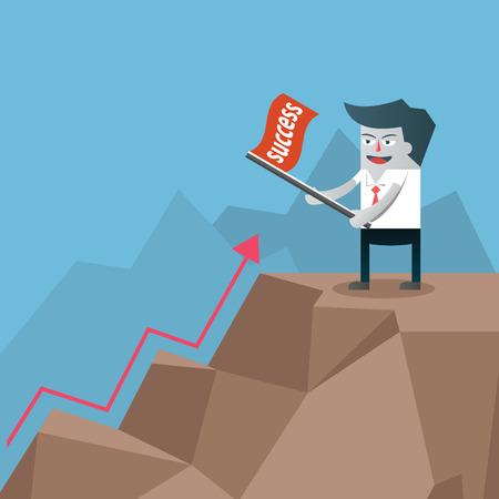 succès un défi Businessman