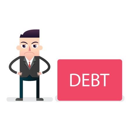 빚: Businessman with Debt
