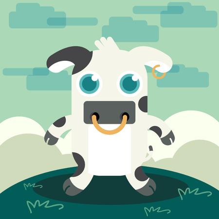 funny animal: Funny Animal Cow illustration