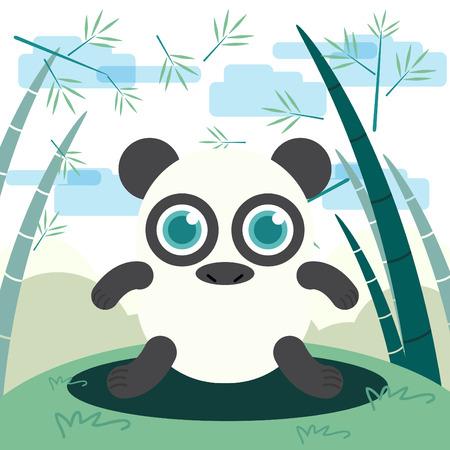 funny animal: Funny Animal Panda illustration Illustration