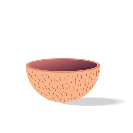 illustration of coconut shell Vector