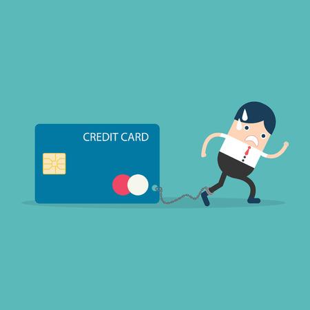 servitude: Businesswoman with Credit Card slave Illustration