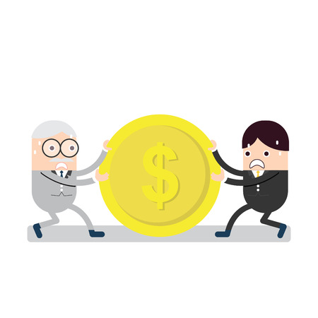 common market: Competition business with dollar coin