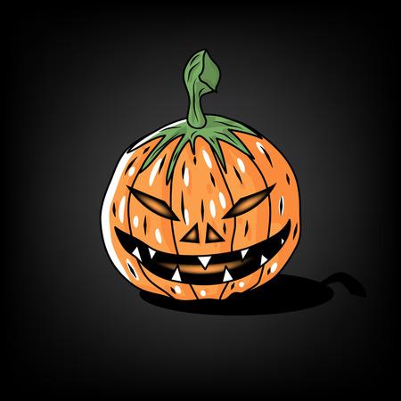 Halloween pumpkin. Vector illustration Illustration
