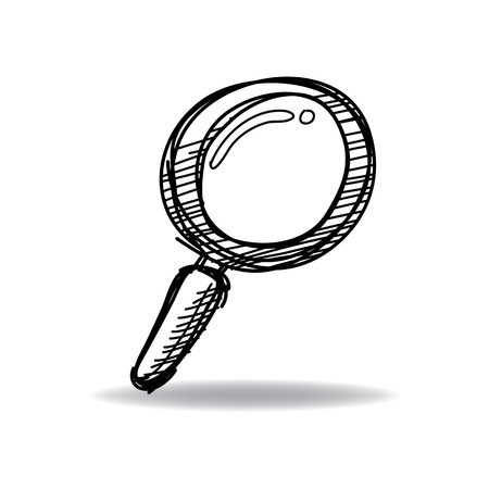 discover: Search Icon with ink hand drawn