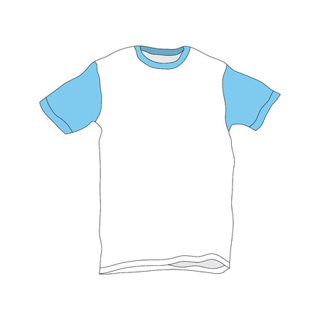 Vector illustration of T-Shirt Template Vector