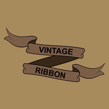 Vector illustration of vintage ribbon banner
