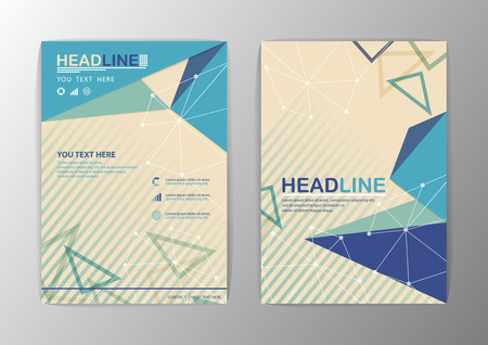 Abstract Triangle Brochure Flyer design-Vector illustration EPS File Vector