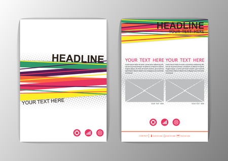 Abstract Background design. Business Corporate Brochure Template Flyer Layout. Vector illustration Vector