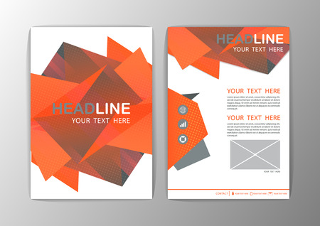 a4 background: Abstract Brochure Template. Business polygon corporate background Flyer Layout. Vector illustration Illustration