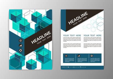 Abstract Hexagon Geometric Brochure Template. Flyer Layout. Vector illustration