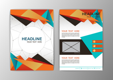 Abstract Orange Triangle design Brochure Flyer template layout-vector illustration Illustration