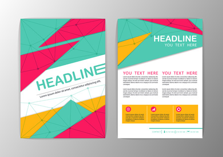 advertising template: Abstract Triangle design Brochure Flyer template layout-vector illustration Illustration