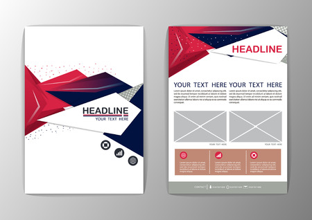headlines: Abstract Background polygon design. Business Corporate Brochure Template Flyer Layout-Vector illustration