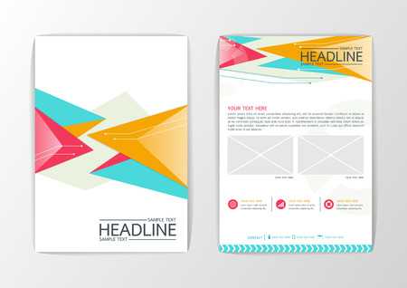 Abstract Background modern Triangle design, Business Corporate Brochure Template Flyer Layout, Vector illustration Vector