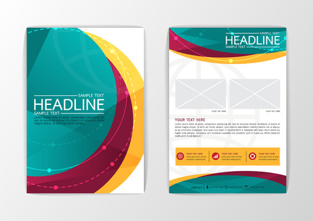 curve line: Abstract curve Brochure Flyer design-Vector illustration