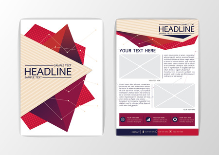 blank magazine: Abstract modern Triangle Brochure Flyer design-Vector illustration Illustration