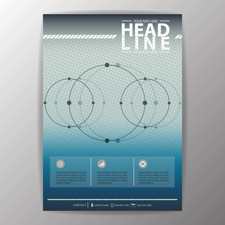 Brochure Template. Business corporate background Flyer Layout-Vector illustration Vector