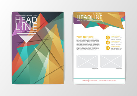 Abstract Background modern Geometric design, Business Corporate Brochure Template Flyer Layout, Vector illustration Illustration