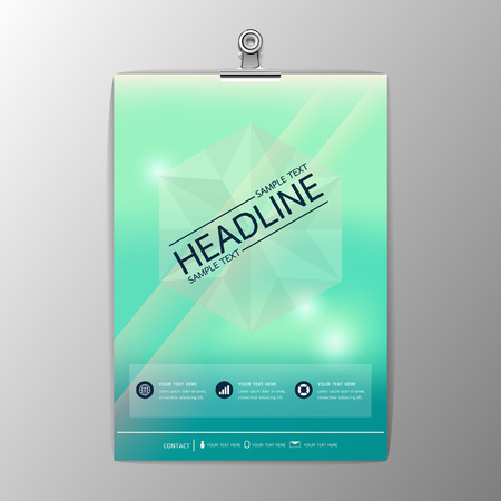 Blurred abstract background design, Business Corporate Brochure Template Flyer Layout, paper clip,Vector illustration Illustration