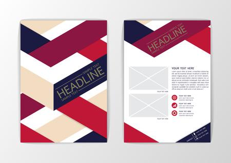 A4 Abstract Background modern, Brochure Flyer design-Vector illustration