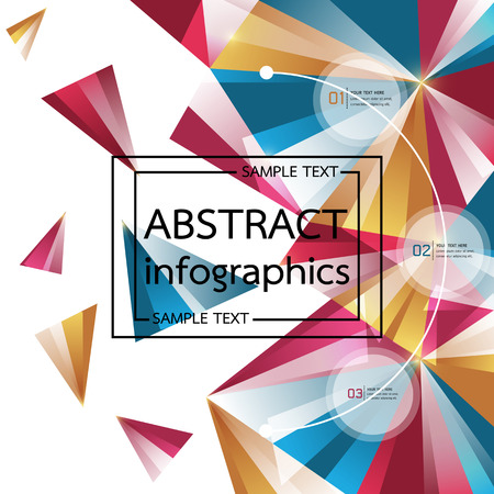 Abstract Background modern triangle design, Infographics-Vector illustration