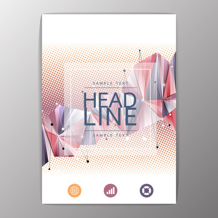 geometric design: Creative Flyer, Brochure Design Templates Layout. Geometric Abstract Modern Background, Vector illustration