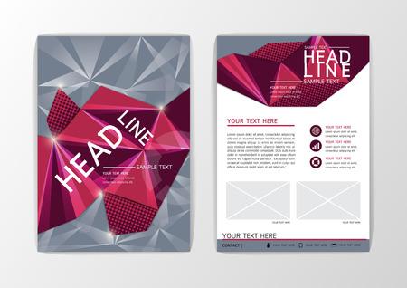 Creative set Flyer, Brochure Design Templates Layout. Geometric Abstract Modern Background, Vector illustration