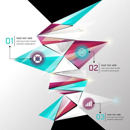 Modern Abstract Background geometric design, Infographics, Vector illustration Illustration