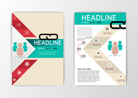 A4 Abstract set Brochure Background, Business Corporate Template Flyer Layout, Vector illustration 矢量图像
