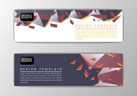 Abstract polygon banner design template, Vector illustration Illustration