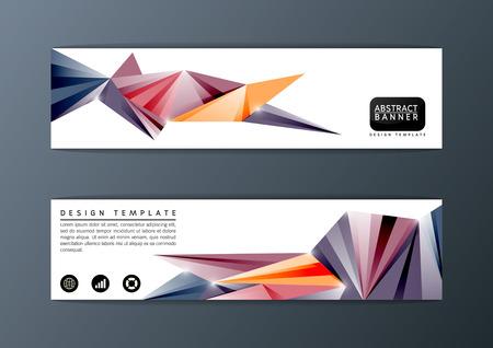 Abstract polygon design, banner set-Vector illustration Illustration