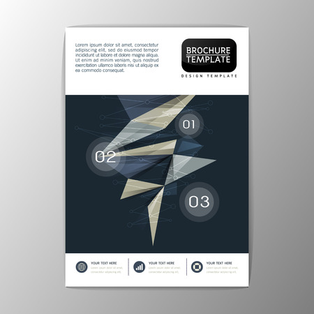 Flyer, magazine, brochure design template, Business Abstract Background, A4 size-Vector illustration