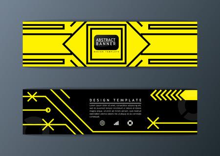 Abstract pattern Background design, banner set, Technology Art-Vector illustration