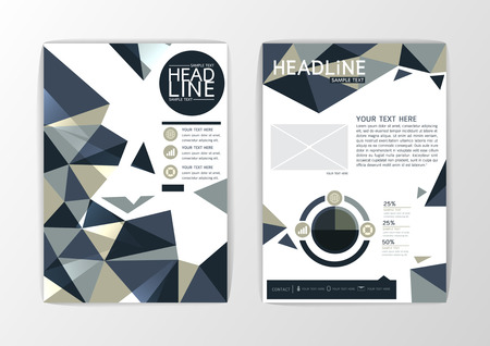 a4: A4 Abstract Background modern Triangle design