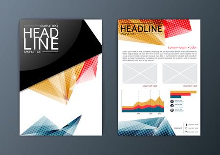 Flyer, magazine, brochure design template