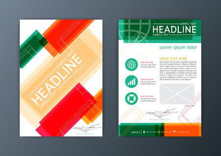 magazine design: Flyer, magazine, brochure design template