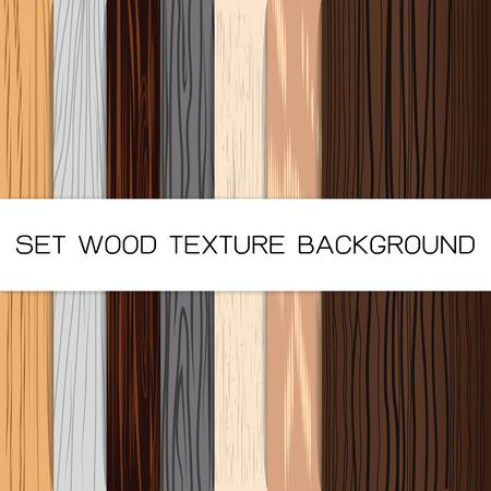 Set of wood backgrounds illustration Illustration