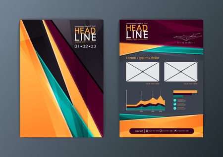 Modern brochure design template, Flyer, magazine, A4 size, Vector illustration