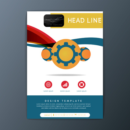 Modern brochure design template, Flyer, magazine, A4 size-Vector illustration