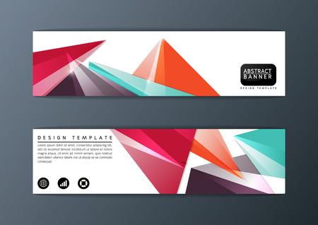 Abstract modern banner design template,Vector illustration