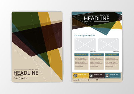 Business Brochure Template Layout, Abstract Background modern design, Flyer, magazine, A4 size-Vector illustration Illustration
