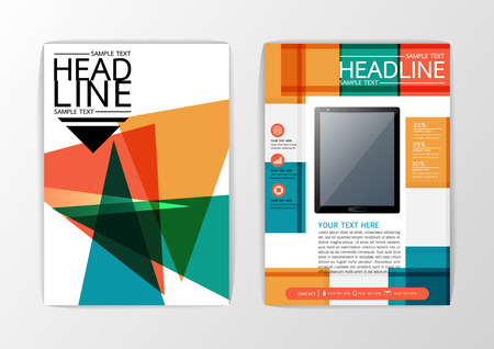 blank magazine: Business Brochure Template Layout, Flyer, magazine, A4 size-Vector illustration