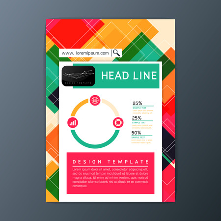 Modern Flyer, magazine, brochure report business template, abstract background, A4 size, Vector illustration