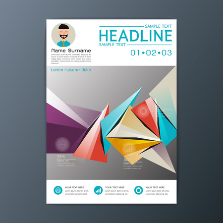 Modern flyer design, magazine, brochure business, resume template, abstract background, A4 size,Vector illustration
